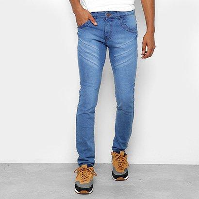 Calça Jeans Skinny Coffee Destroyed Masculina