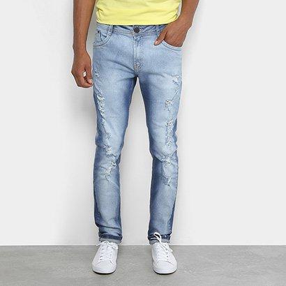 Calça Jeans Skinny Dimy Puídos Masculina