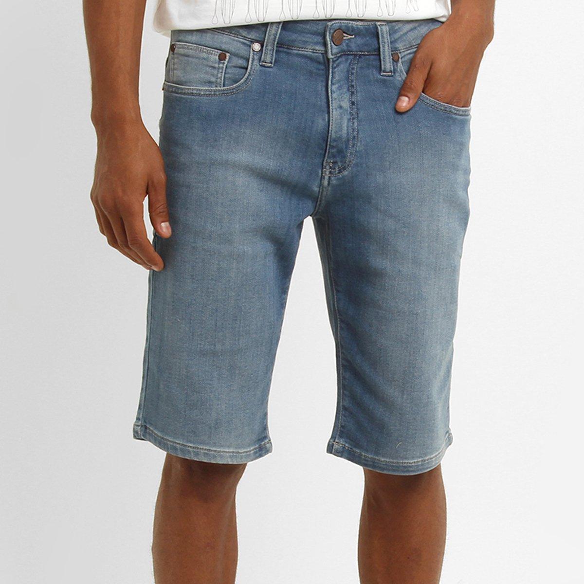 Bermuda Jeans Redley Moletom Índigo