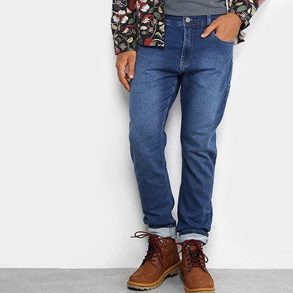 Calça Jeans Skinny Redley Moletom Masculina