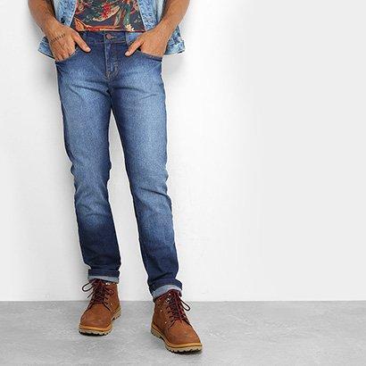 Calça Jeans Skinny Redley Stone Escura Masculina