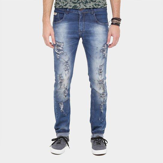 084c744a1 Calça Jeans Skinny Rock Soda Super Rasgada Masculina Compre