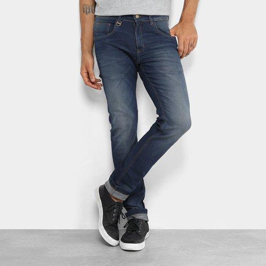 Calça Jeans Skinny Rock   Soda Estonada Masculina - Azul Escuro ... aa15e64eea94d
