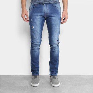 7c945525e Calça Jeans Skinny Gangster Estonada Rasgos Masculina