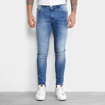 Calça Jeans Skinny Gangster Estonada Elastano Used Masculina