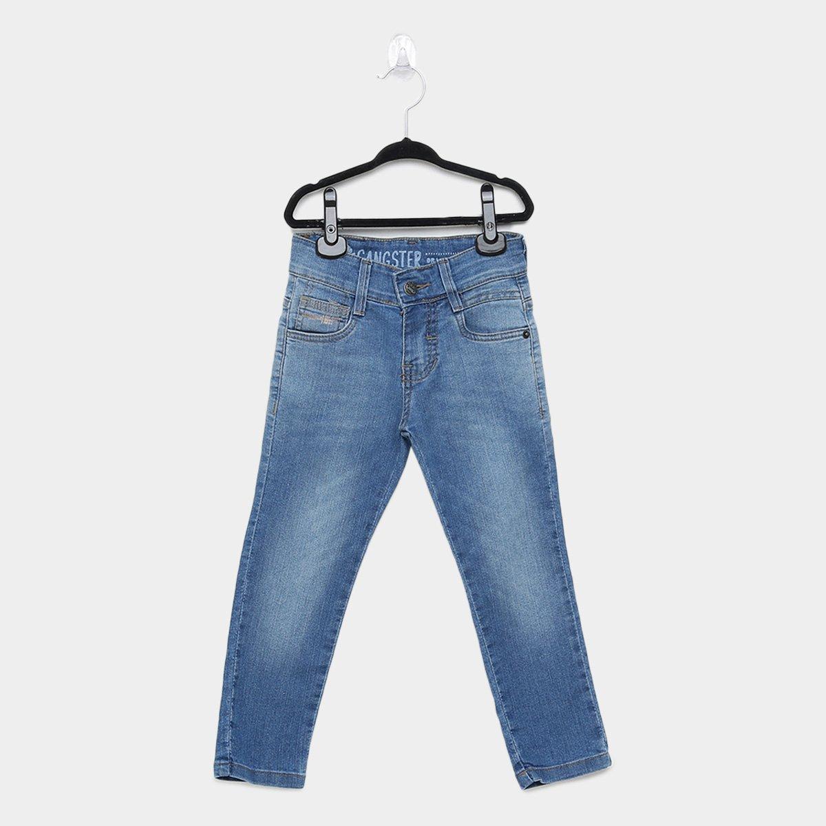 Calça Jeans Infantil Gangster Lavagem Clara Masculina