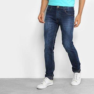aaf4f025dd Calça Jeans Slim Fatal Estonada Masculina