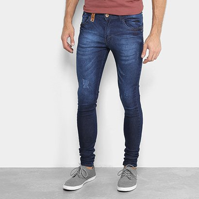 Calça Jeans Skinny Fatal Estonada Masculina