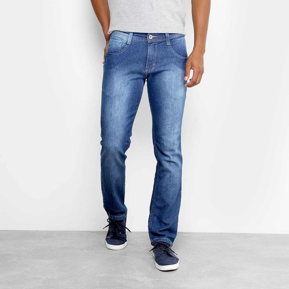 Calça Jeans Slim Biotipo Soft Estonada Masculina. undefined e3797438b08