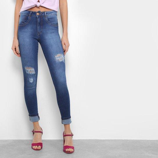 47f7e08b6e Calça Jeans Skinny Biotipo Rasgos Cintura Média Feminina - Compre ...