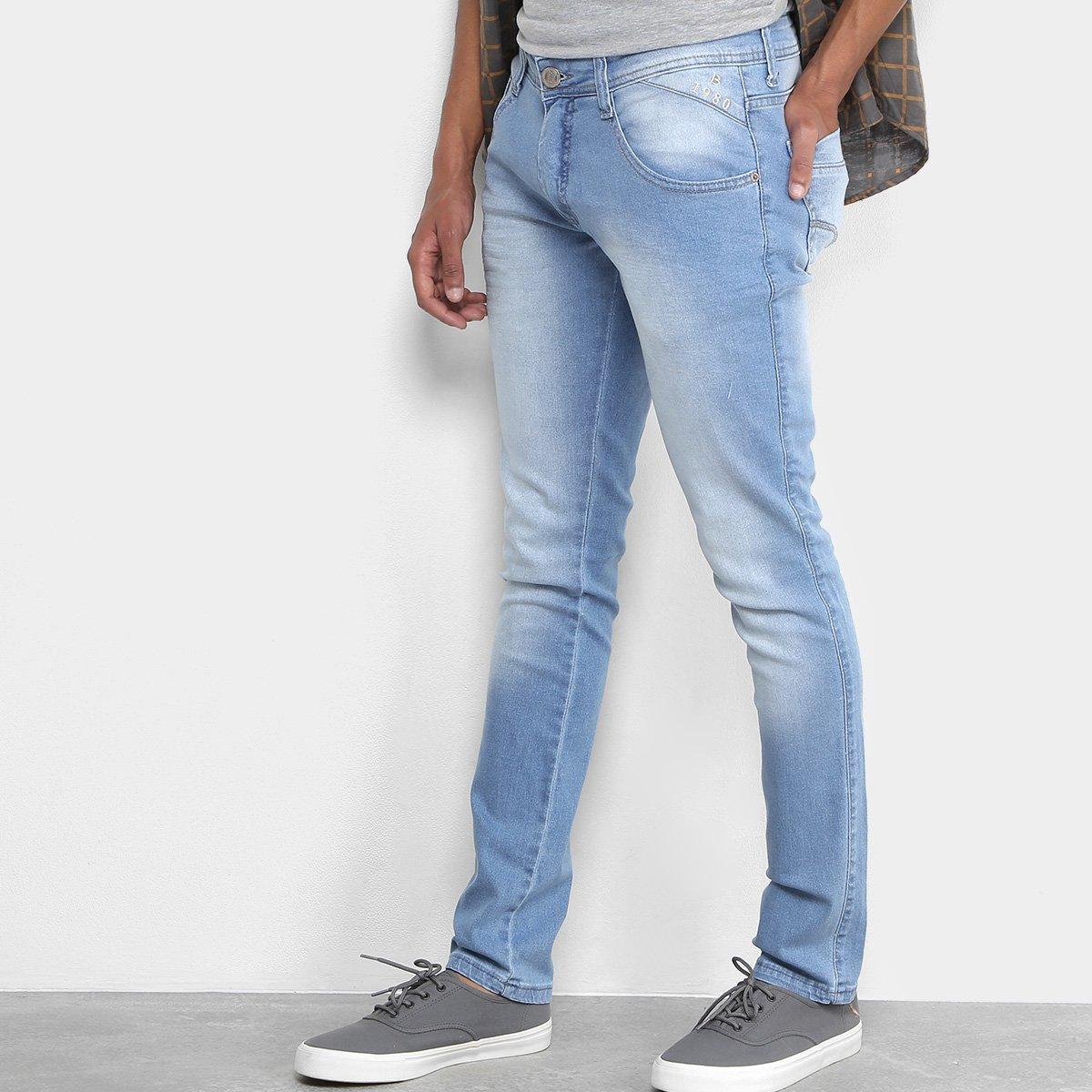 6c2c800b5 Calça Jeans Skinny Biotipo Lavagem Clara Estonada Masculina - Tam: 44 - ...