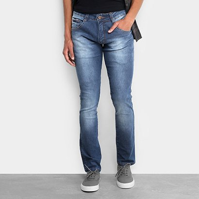 Calça Jeans Skinny Biotipo Elastano Escura Masculina