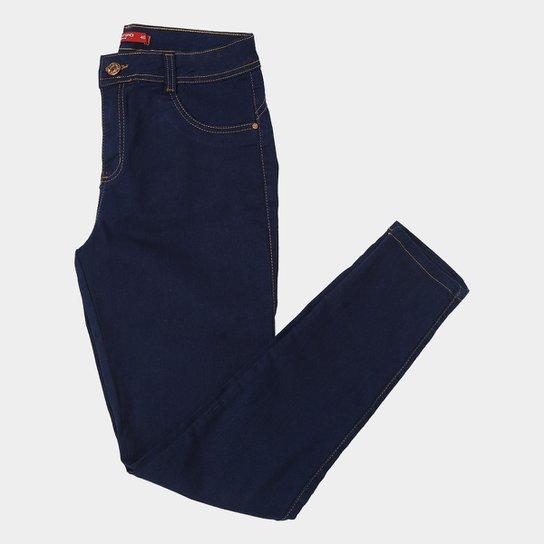 a194b5123 Calça Jeans Skinny Biotipo Plus Size Clássica Cintura Alta Feminina - Azul