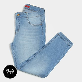 b15f84a95 Calça Jeans Skinny Biotipo Estonada Cintura Média Plus Size Feminina