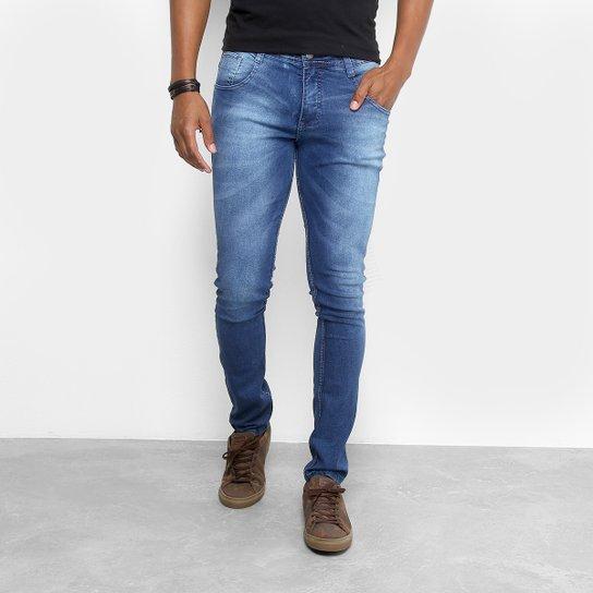 e6dfde19a6 Calça Jeans Skinny Biotipo Estonada Cintura Média Masculina - Azul Escuro
