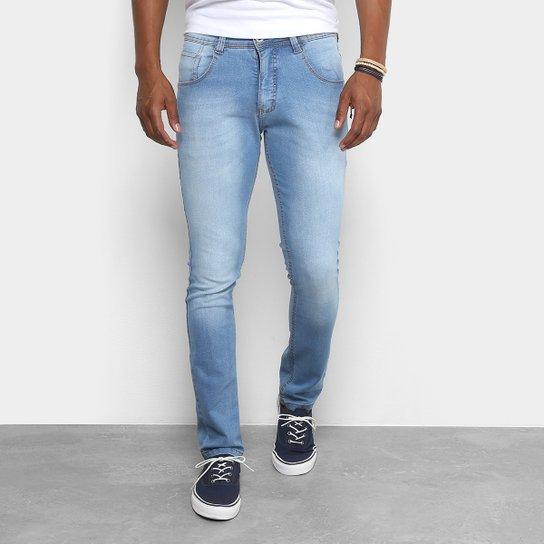 287dc75ef Calça Jeans Skinny Biotipo Estonada Masculina - Azul Claro