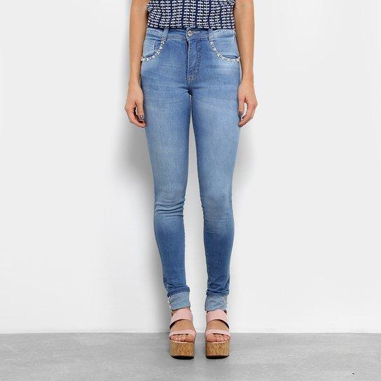 7eae833bf Calça Jeans Biotipo Skinny Pérolas Barra Dobrada Feminina - Jeans ...