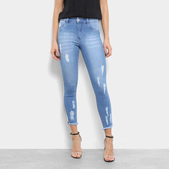 8038249be6 Calça Jeans Skinny Cropped Biotipo Destroyed Feminina - Compre Agora ...