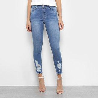c61e0ae58 Calça Jeans Skinny Biotipo Destroyed Feminina