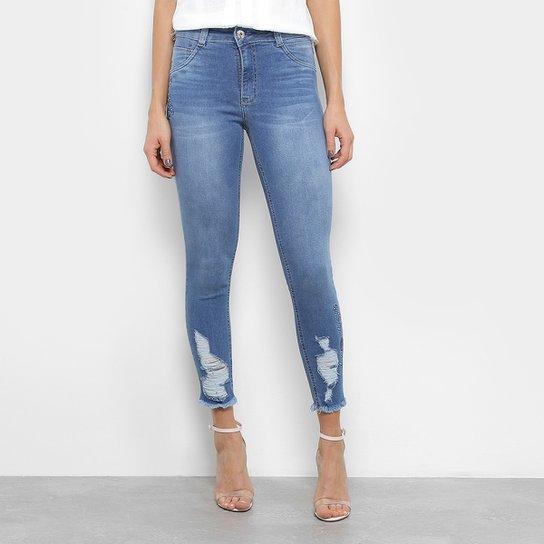 770fdcd1c Calça Jeans Skinny Biotipo Destroyed Feminina - Jeans | Netshoes