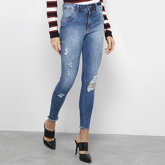 01daadacc Calças Jeans Cigarrete Biotipo Cintura Média Feminina