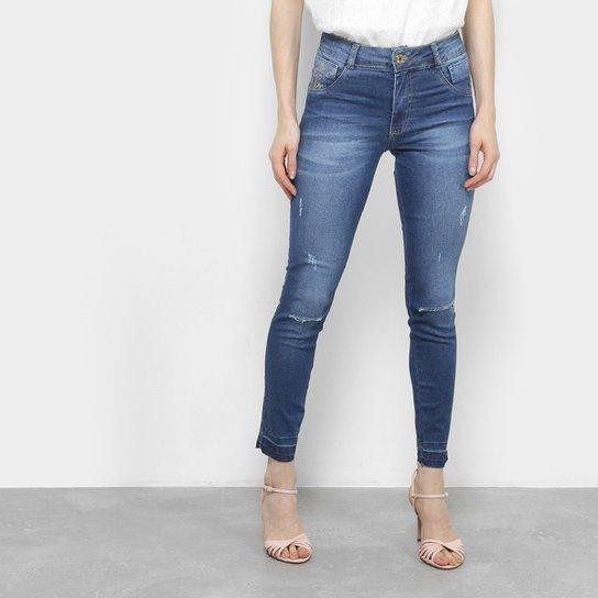 841282b0c Calça Jeans Skinny Biotipo Estonada Cintura Alta Feminina - Azul ...