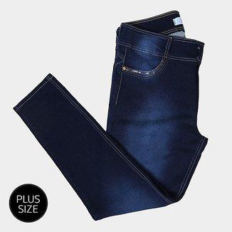 9750b6fbd Calça Jeans Cigarrete Biotipo Plus Size Cintura Alta Feminina
