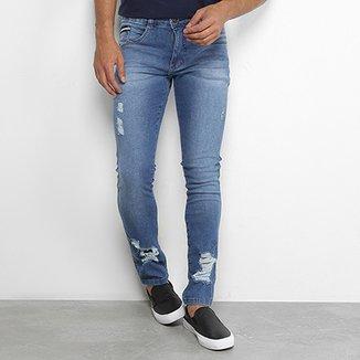 947b479f3 Calça Jeans Skinny Biotipo com Puídos Masculina