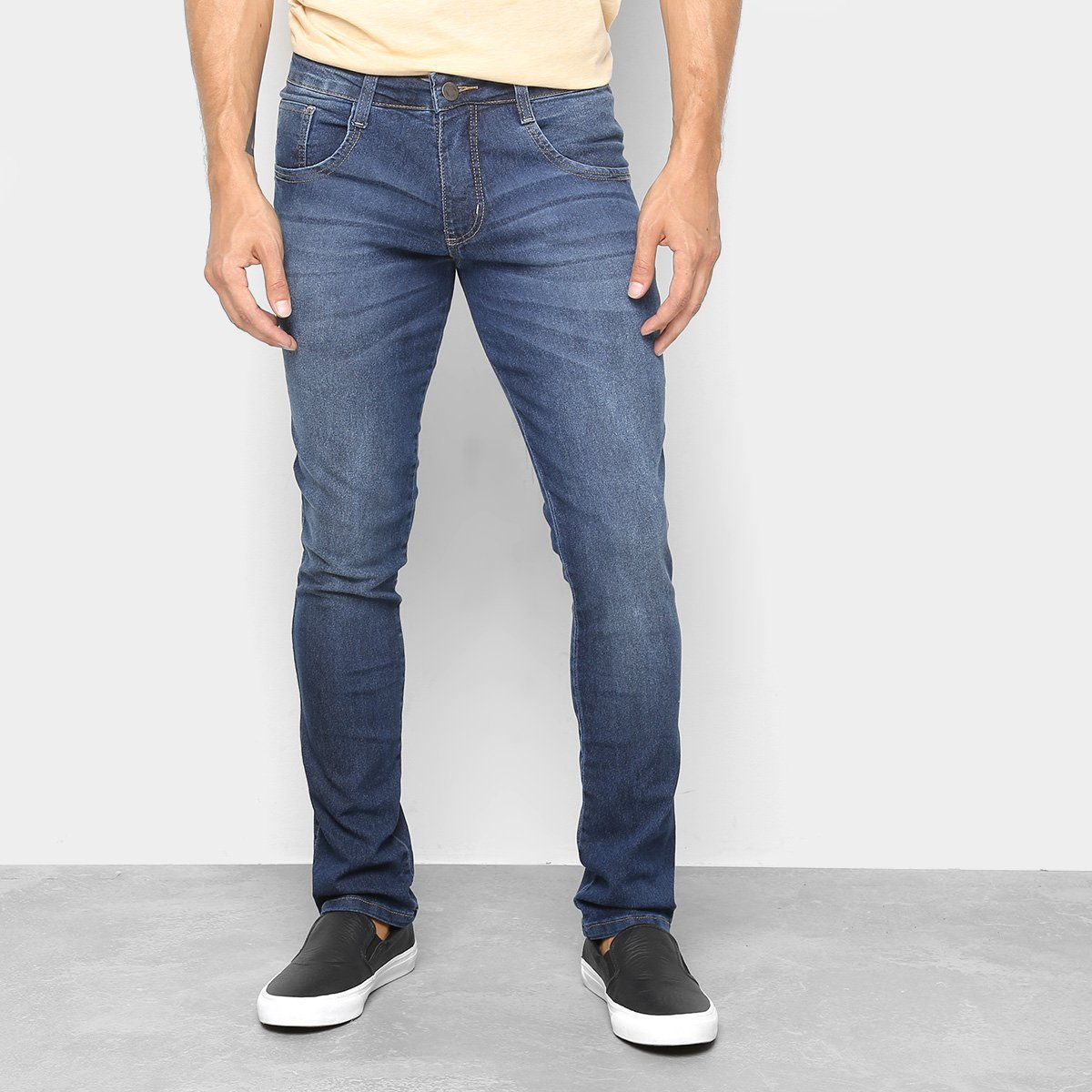 2a61b54dc Calça Jeans Skinny Biotipo Estonada Cintura Baixa Masculina - Tam ...
