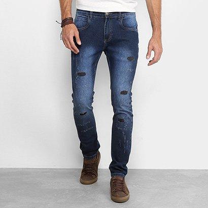 Calça Jeans Handbook Slim Estonada Livio Masculina