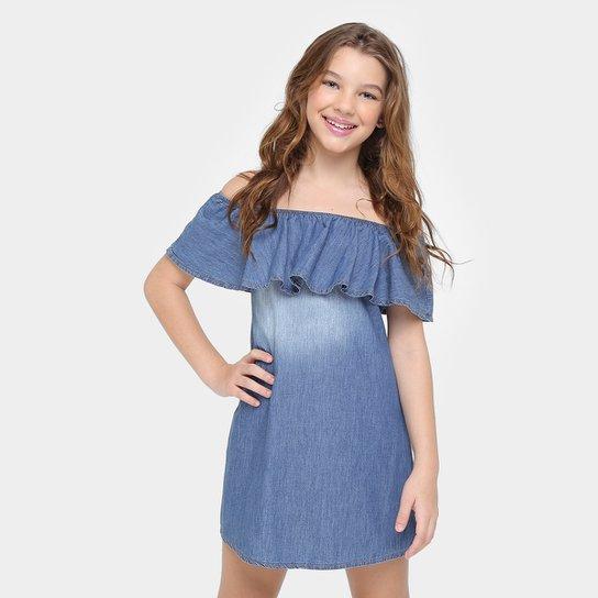7984d3f54 Vestido Colcci Fun Jeans Ciganinha Infantil | Netshoes