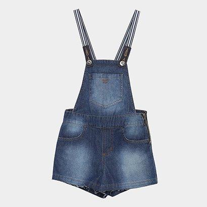 Macacão Jeans Infantil Colcci Fun Feminino