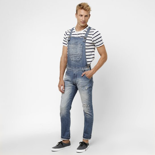 4d873c9fc Macacão Jeans Zune Puidos - Compre Agora