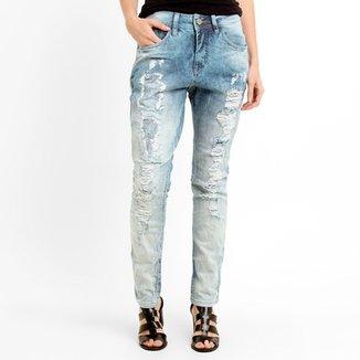 0c59e9e782 Calça Jeans Zune Boyfriend Rasgada