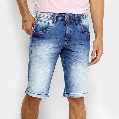 Bermuda Jeans Zune Elastano Estonada Masculina