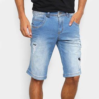 c55a7fe3f Bermuda Jeans Zune Rasgos Masculina
