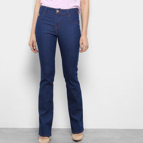 626c23cdef Calça Jeans Flare Coca-Cola Boot Cut Cintura Média Feminina - Azul Escuro