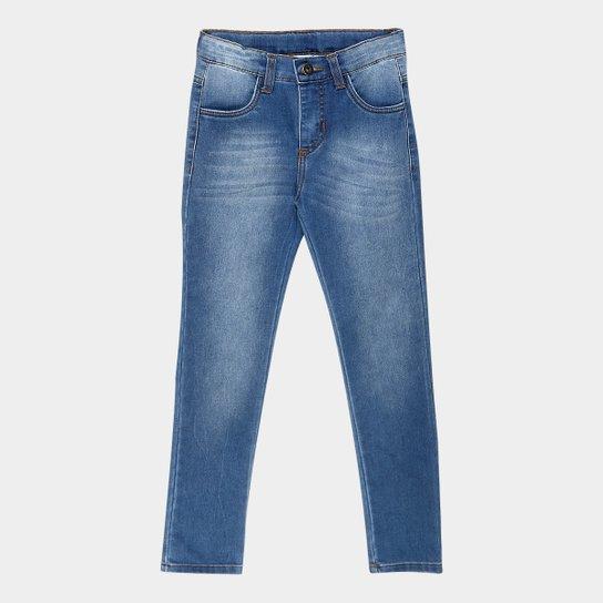 24f1a2027 Calça Jeans Infantil Cativa Estonada Masculina - Azul Claro