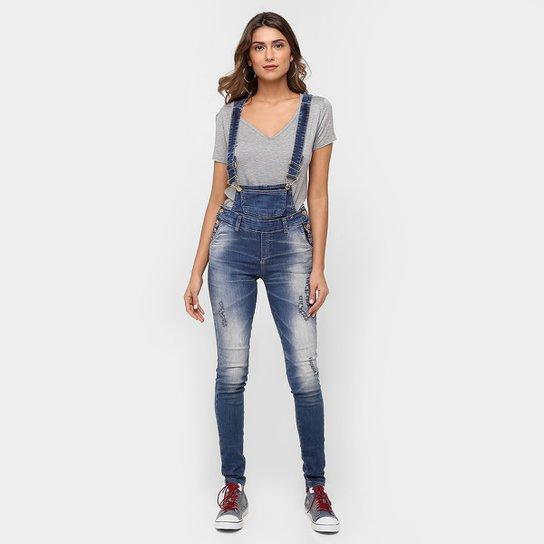 f8363da61 Macacão Jeans Uber Estonado Suspensório - Compre Agora