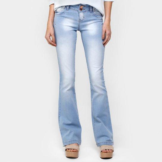 1065d5beb2 Calça Über Jeans Flare Cós Duplo - Compre Agora