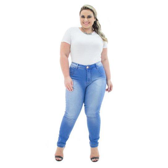 d284d7abe Calça Confidencial Extra Jeans Cropped Missy com Lycra Plus Size Feminina -  Jeans ...