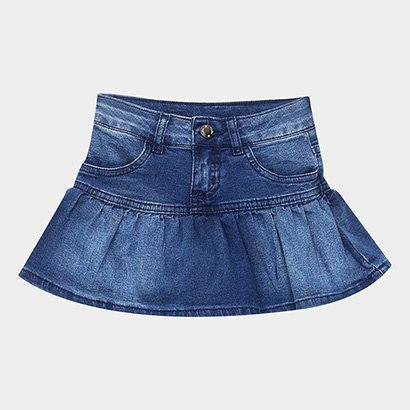 Saia Jeans Infantil Milon Feminina