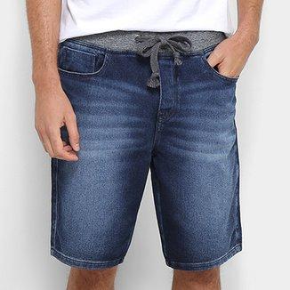 f854ed21cf891 Bermuda Jeans Acostamento Cós Moletom Masculina