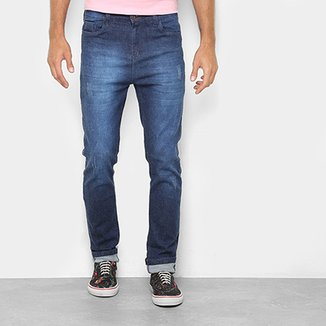 8cf357c8b Calça Jeans Skinny Danger Estonada Cintura Alta Masculina