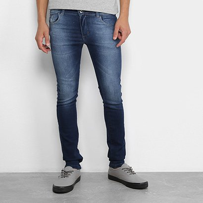 Calça Jeans Infantil Grifle Skinny Estonada Masculina