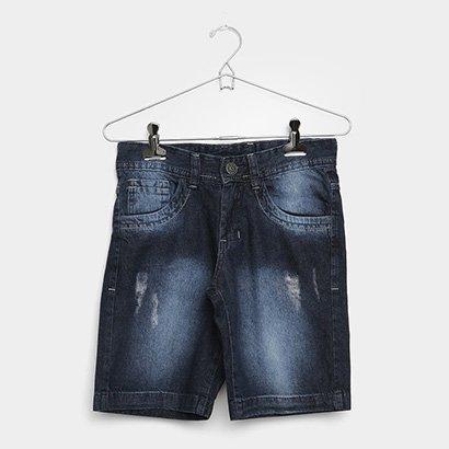 Bermuda Jeans Infantil Grifle Masculina