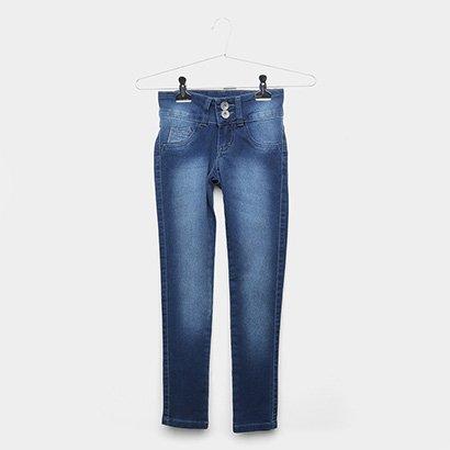 Calça Jeans Infantil Grifle Estonada Feminina