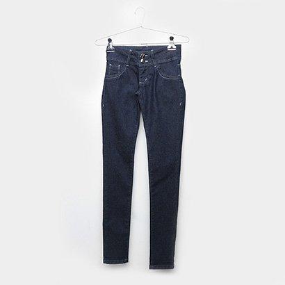 Calça Jeans Infantil Grifle Botões Feminina