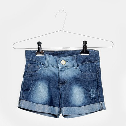 Shorts Jeans Infantil Grifle Feminino