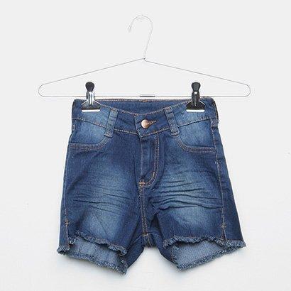 Short Jeans Infantil Grifle Estonada Feminino